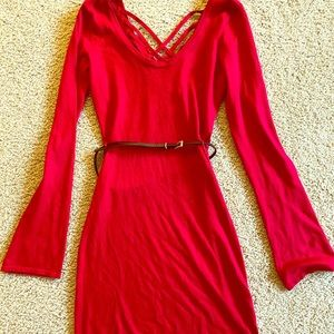 Body central long sleeve dress